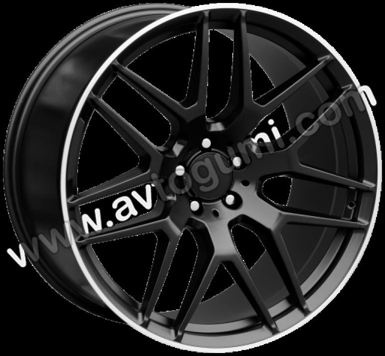 ПО FE115 Черен цвят с полиран ръб Mercedes